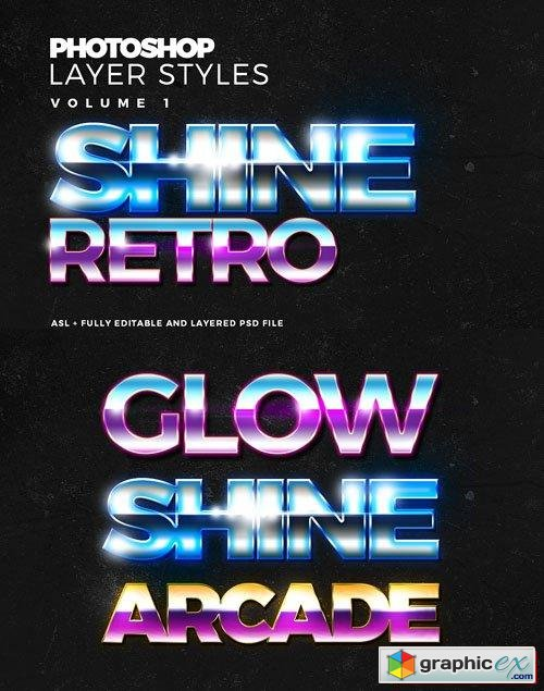 Shine and Glow Text Effect Photoshop Styles » Free Download