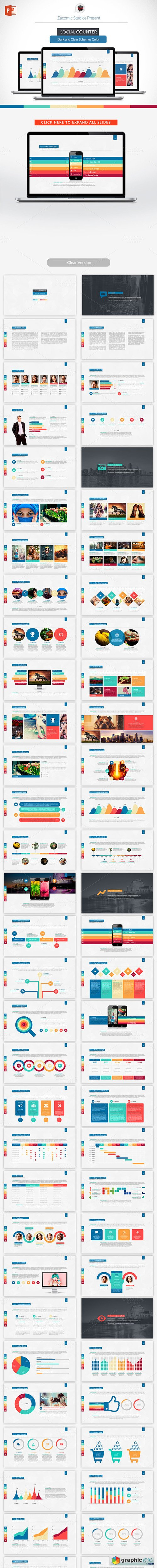 Social Counter | Powerpoint Template