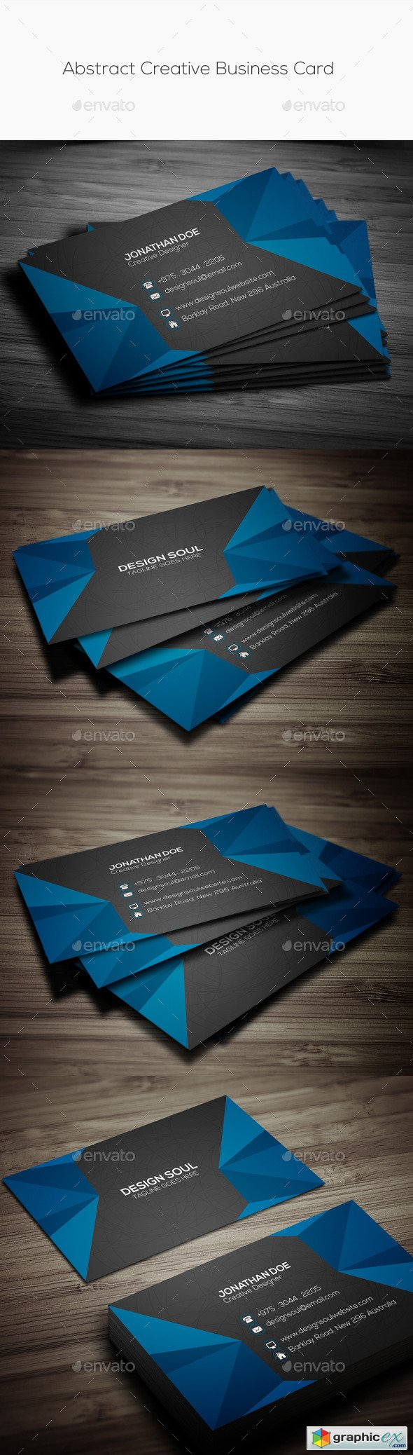 Abstract Creative Business Card 11252965