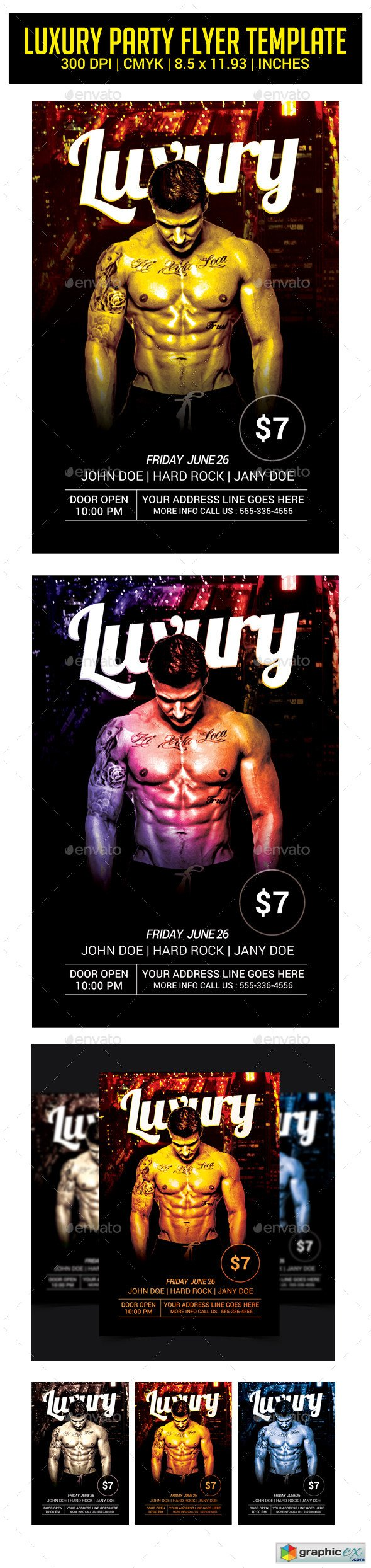 Luxury Party Night Flyer Template