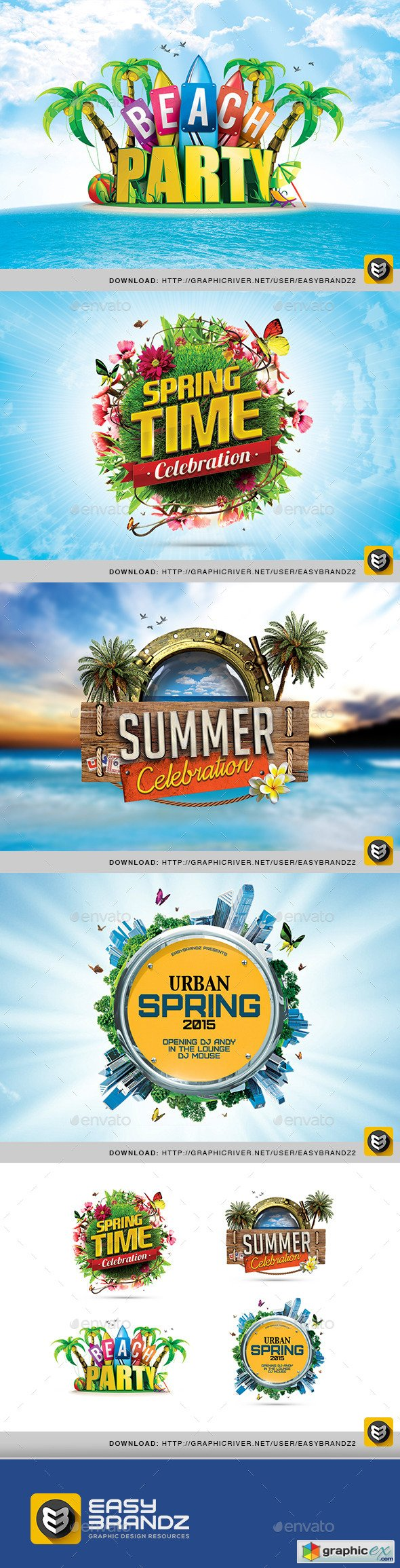 Spring & Summer PSD Badges