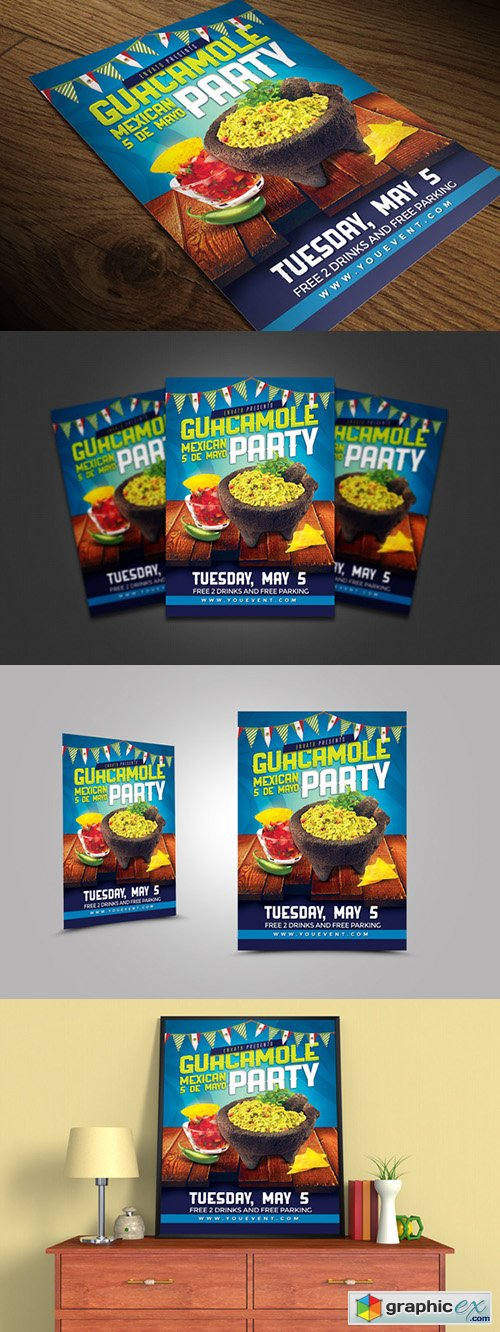 Food Mexican Party Flyer