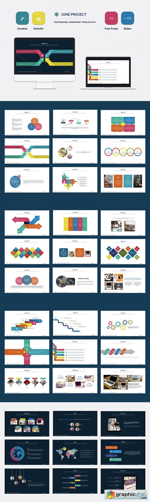 June Powerpoint Template