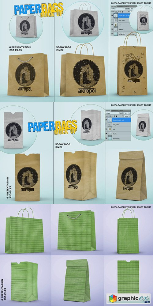Paper Bags Mock Up  262255