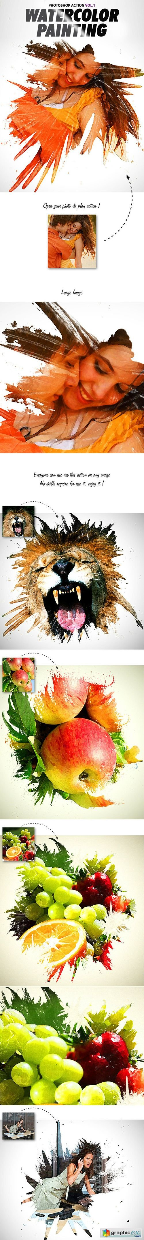 Watercolor Painting Vol1 Photoshop Action