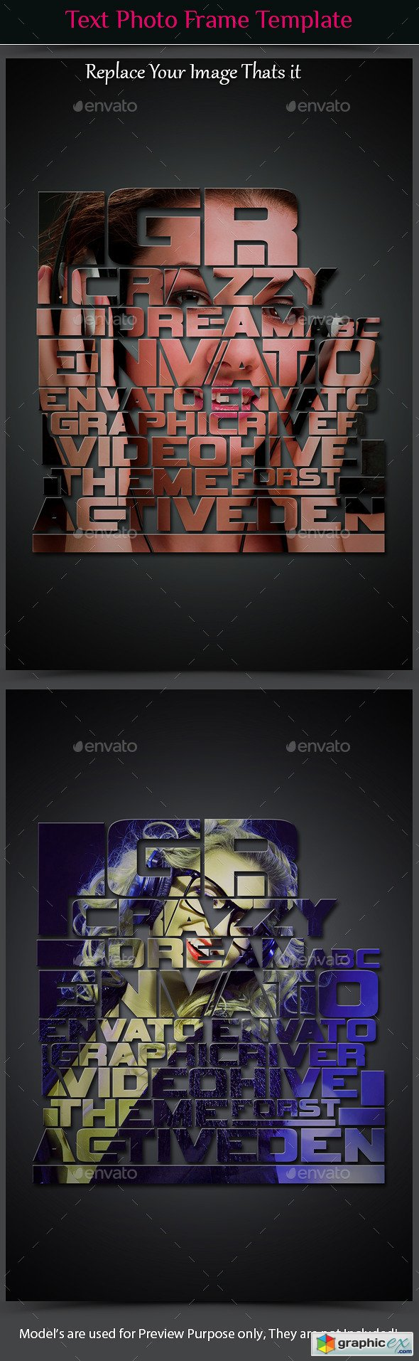 Text Photo Frame Template