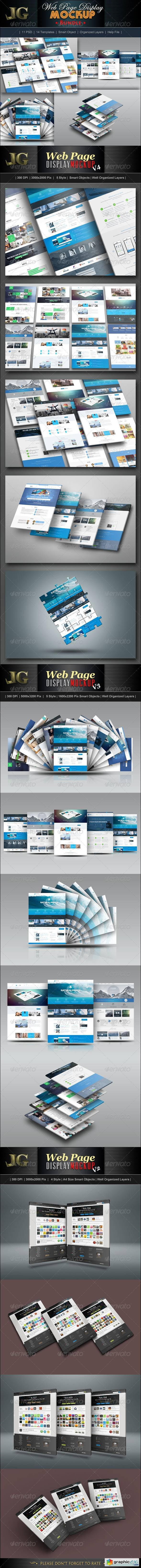 Website Display Mockup Bundle
