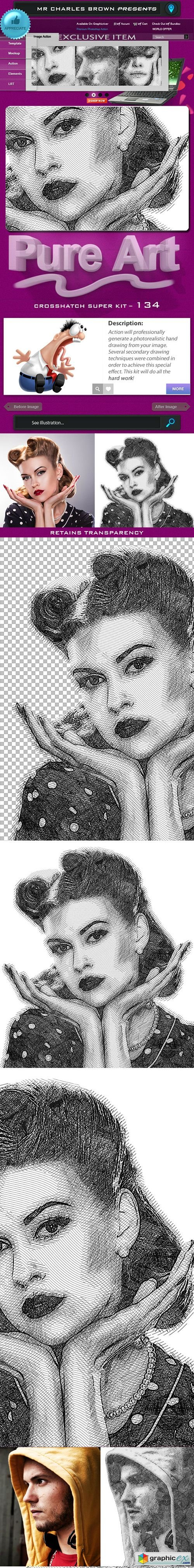 Pure Art Hand Drawing 134 - Crosshatch Super Kit