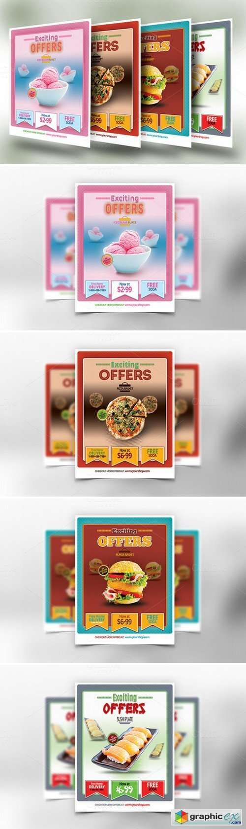 Restaurant Food Offers Flyer or Post