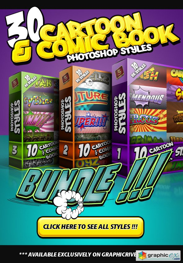 Cartoon and Comic Book Styles Bundle