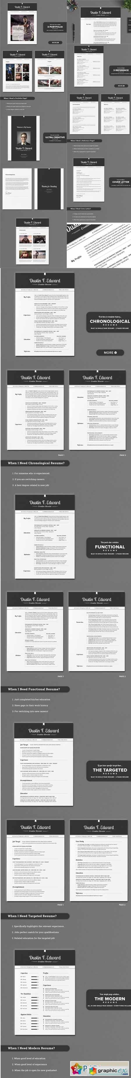 All in One Elegant Resume CV Pack