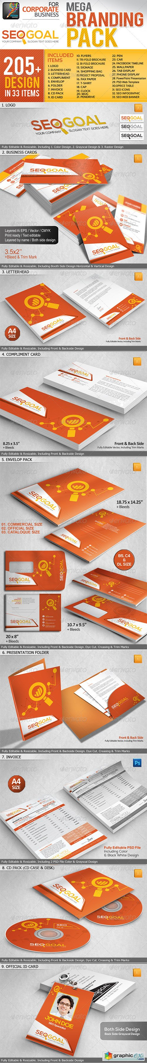 SEO Agency Business Mega Branding Pack