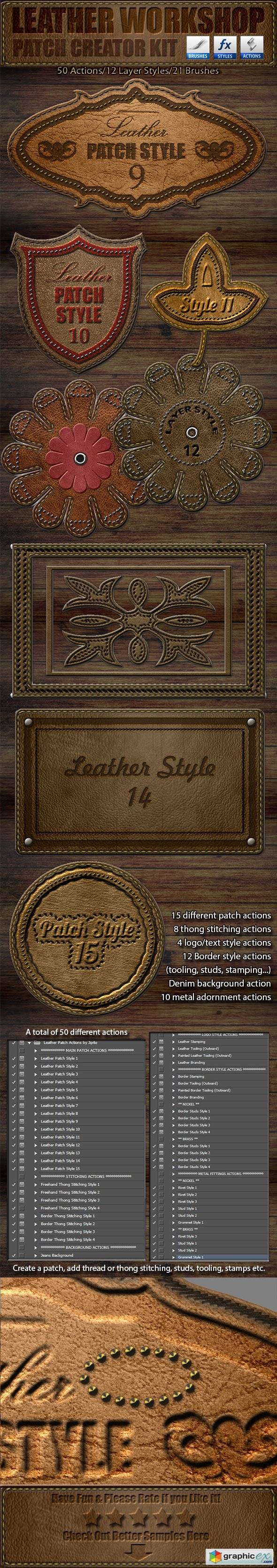 Leather Workshop Patch Creator Kit