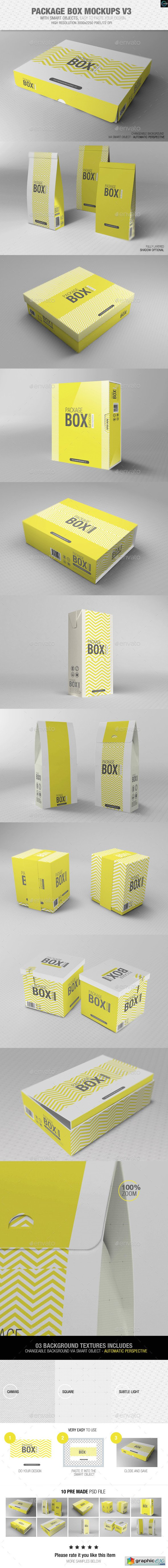 Package Box Mockups Vol3