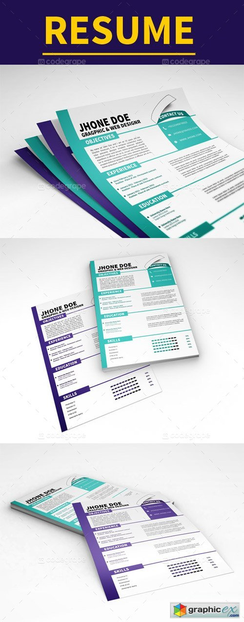 Clean Resume Template 5186