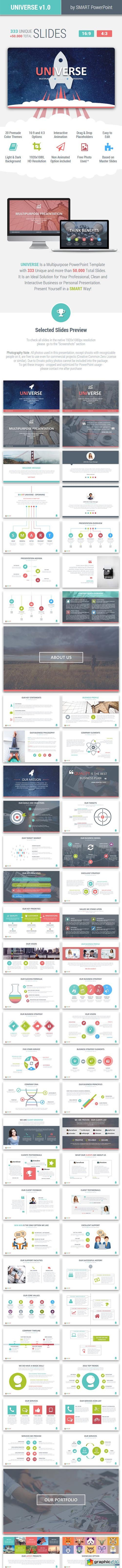 UNIVERSE - Multipurpose PowerPoint Template » Free Download