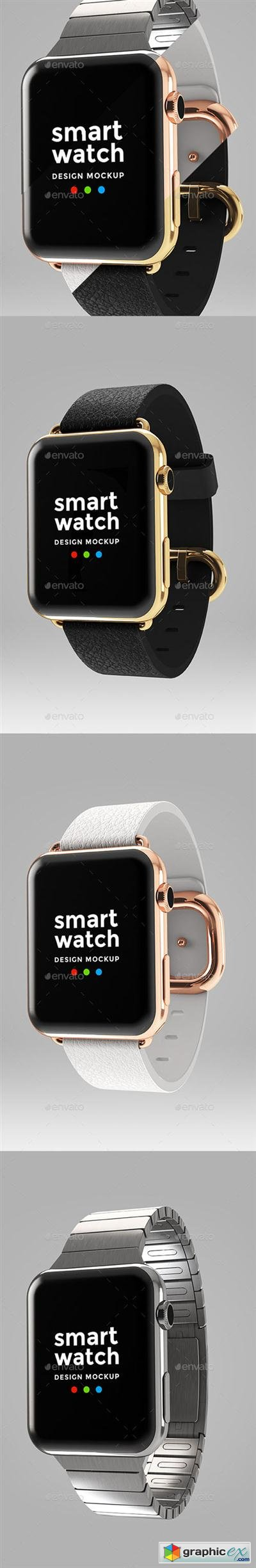Smart Watch Design Mockup