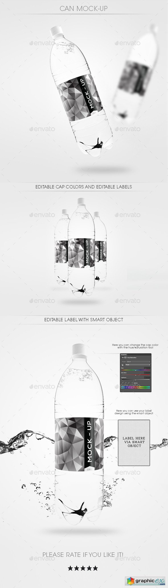 Water Bottle Mock Up