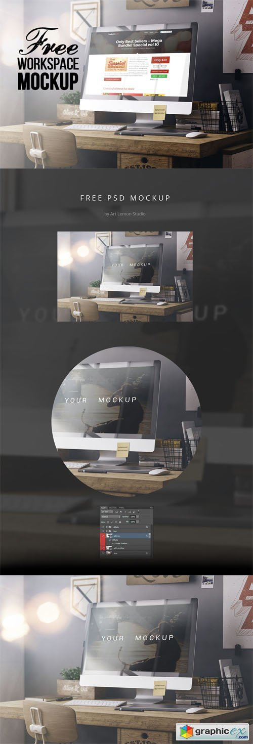 Workspace PSD Mock-Up Template Vol.1