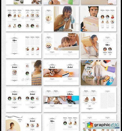 100 pages A4 Digital Product Catalogue Template