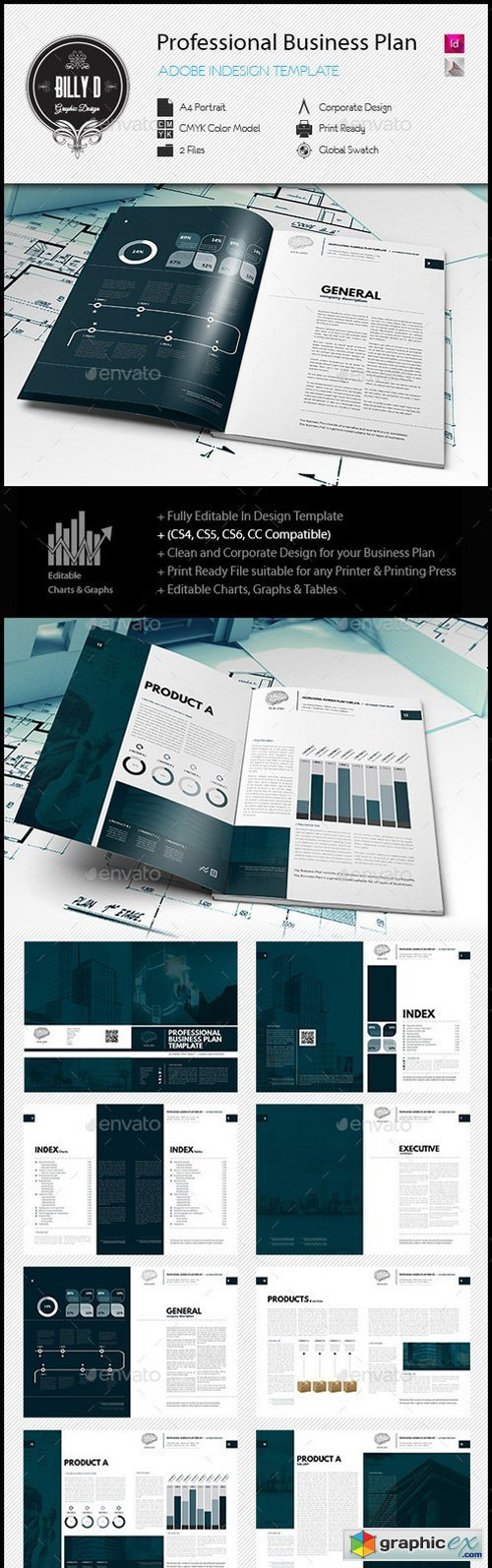 Professional business plan template free download vector stock professional business plan template flashek Gallery