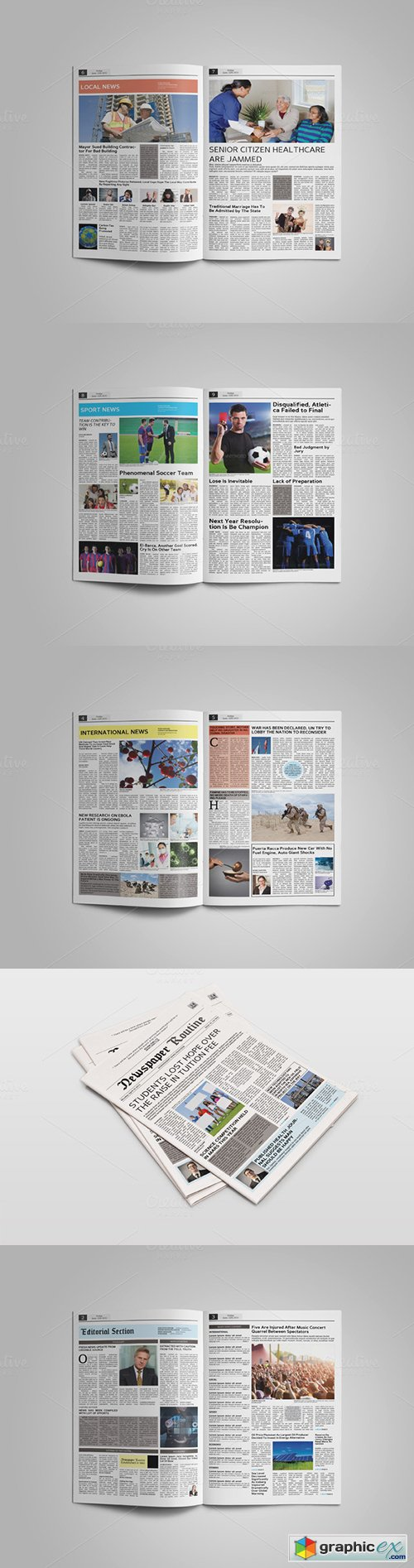 Newspaper Template 14 Pages