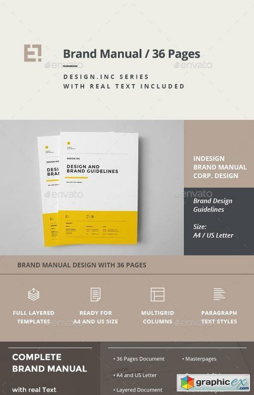 Brand Manual Template 11323698 187 Free Download Vector