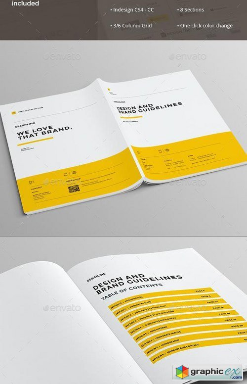 Brand Manual Template   Free Download Vector Stock Image