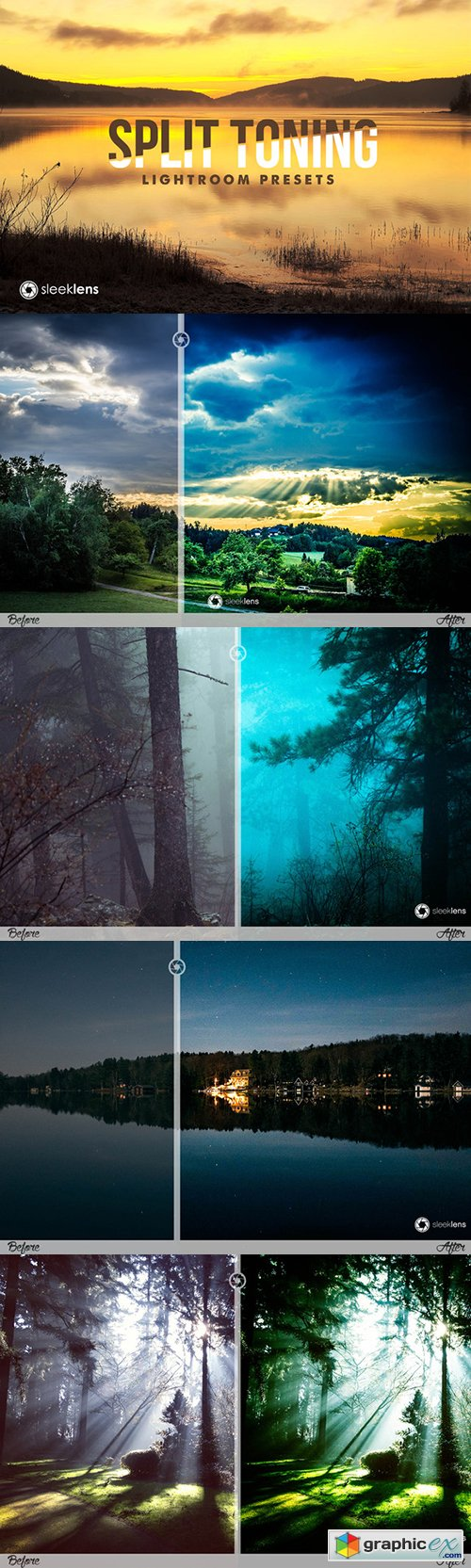 Split Toning leaks Lightroom Presets