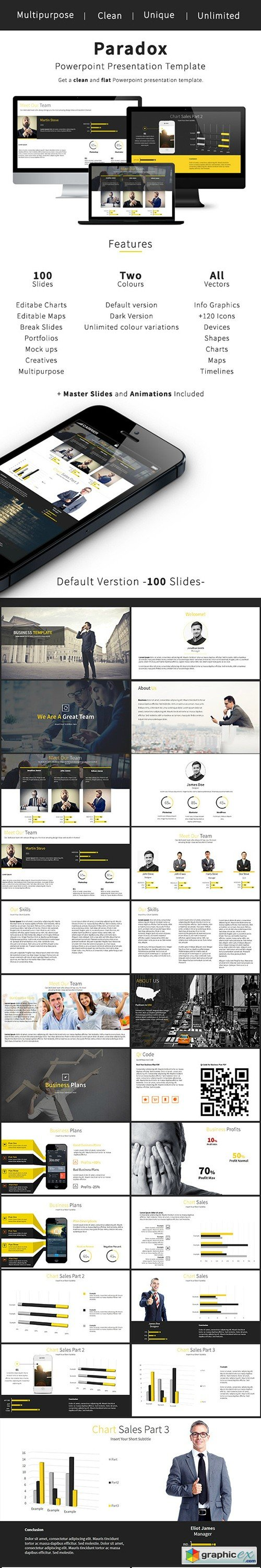 Paradox - Business Powerpoint Template