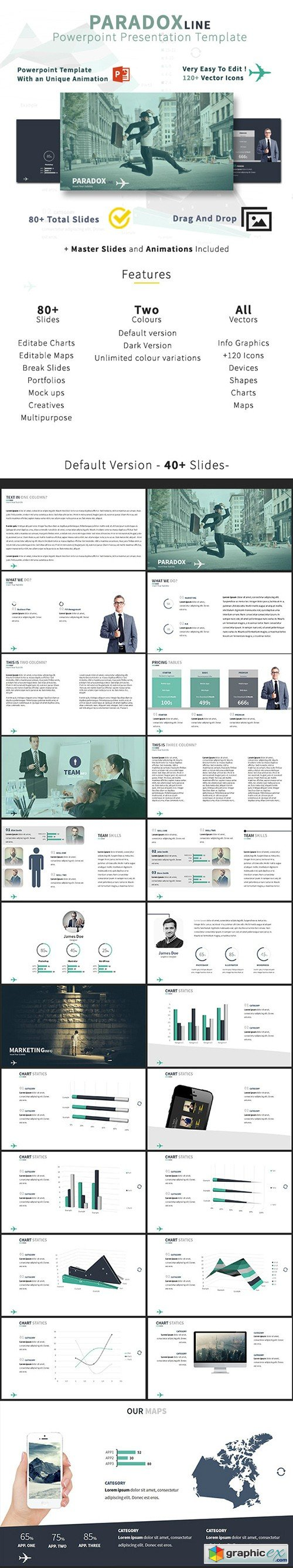 Paradox Line - Business Powerpoint Template