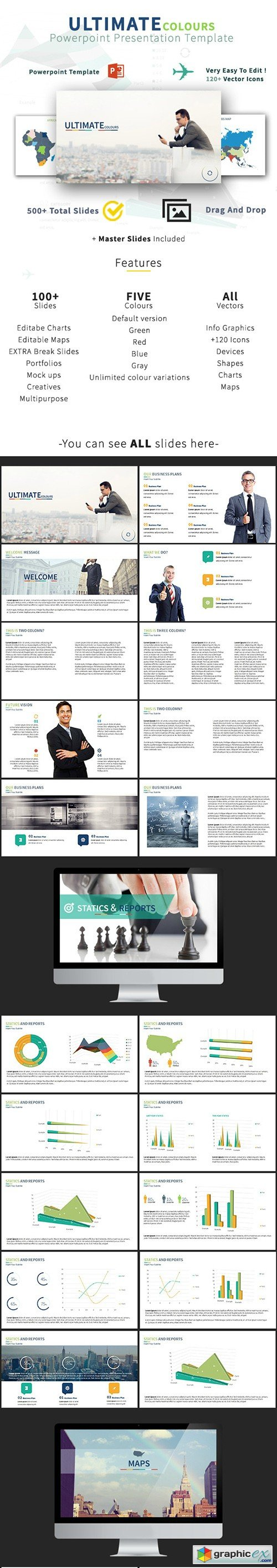 ULTIMATE Colours Multipurpose Business Powerpoint