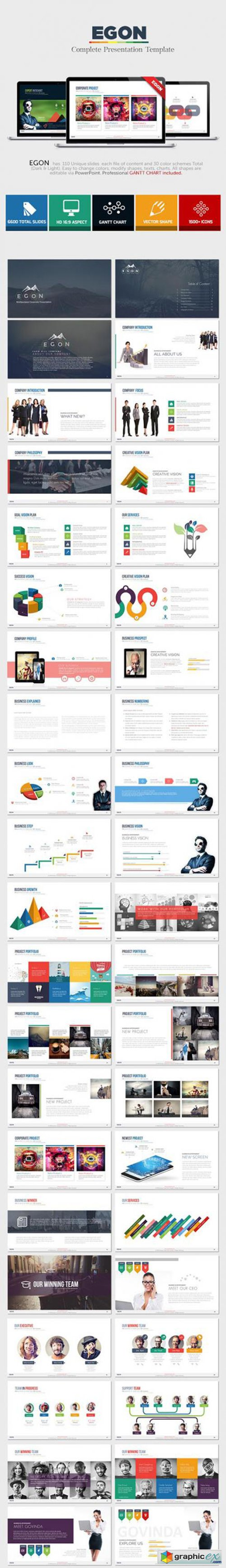Egon - Complete Powerpoint Template