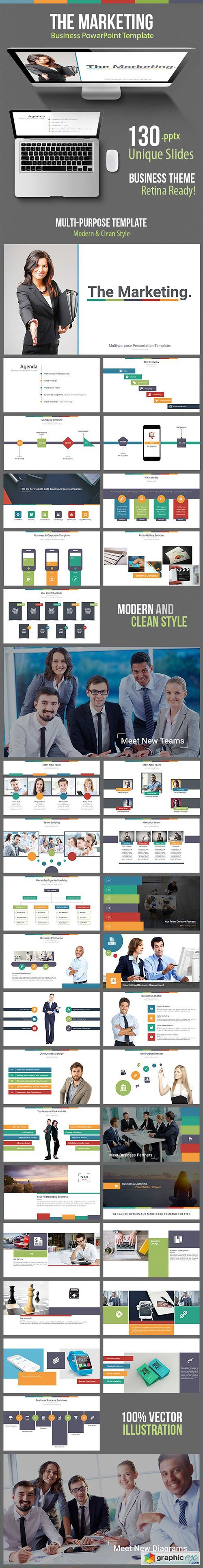 The Marketing - Business Powerpoint Template » Free Download Vector ...
