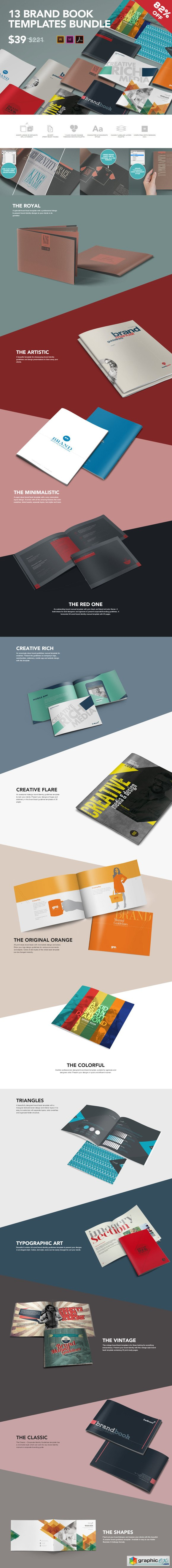 13 Brand Guidelines Templates Bundle