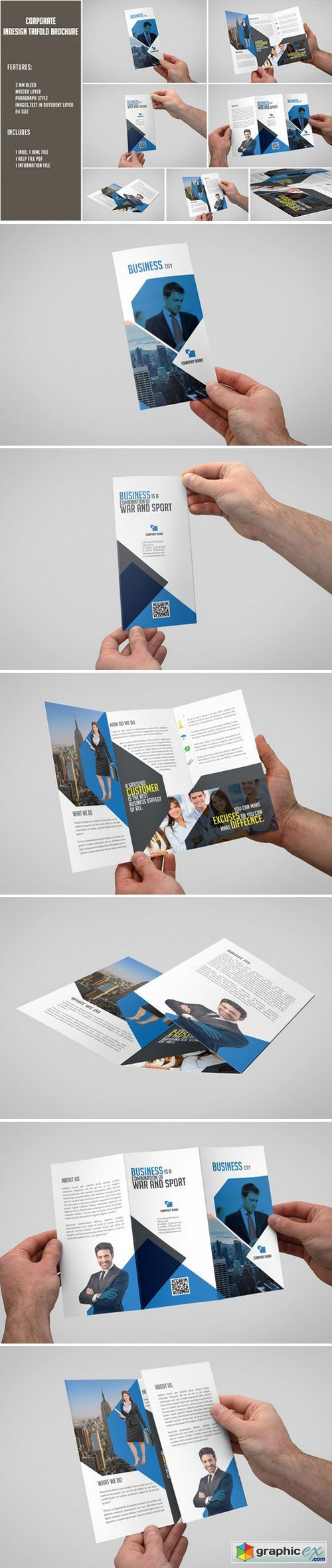 Corporate Trifold Brochure 337315