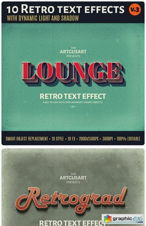 10 Retro Text Effect v.3