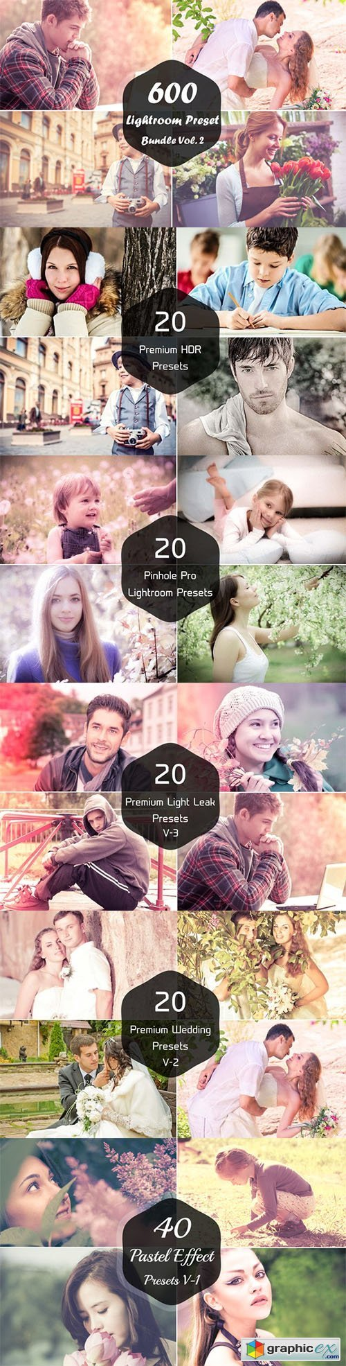 600 Lightroom Presets Bundle Vol. 2