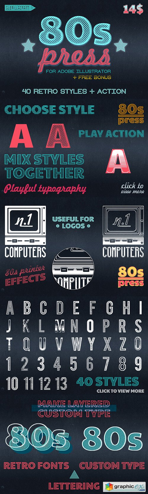 80s PRESS for Adobe Illustrator
