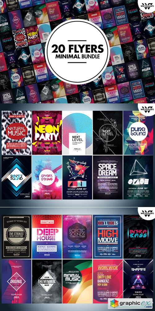 MEGA MINIMAL Flyer Bundle
