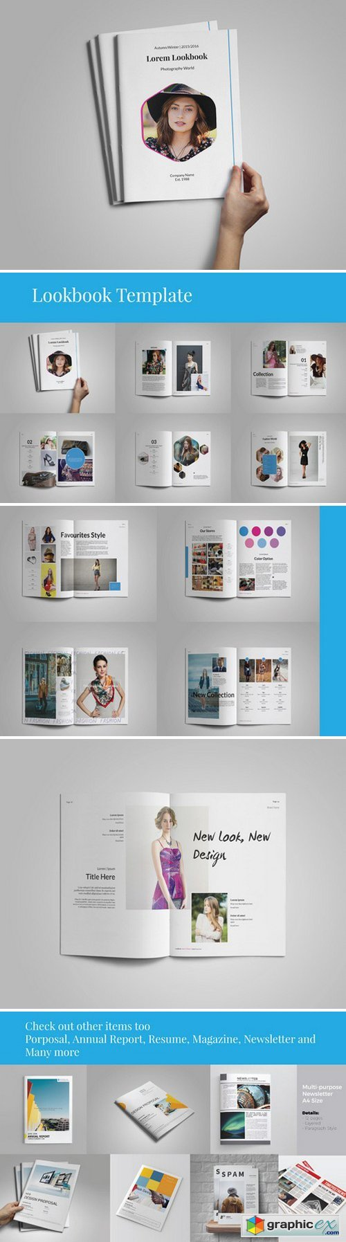 lookbook catalogs template free download vector stock image