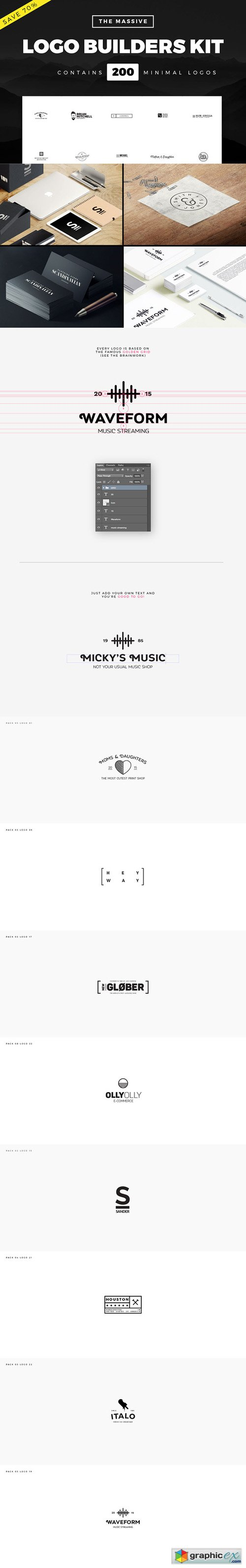 Massive Logo Builder Kit | 200 Logos