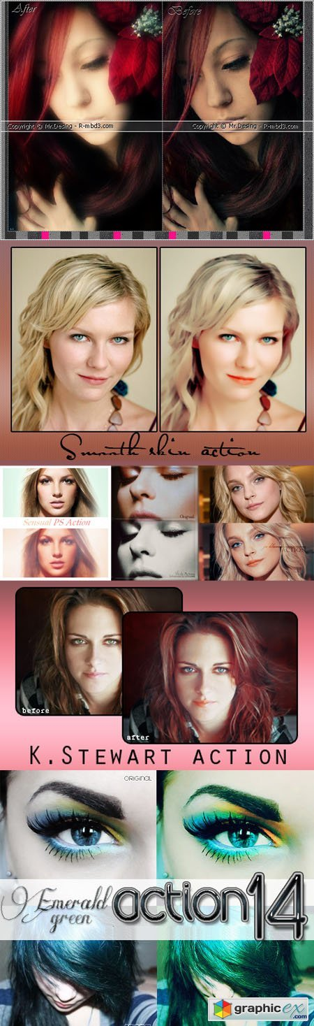 Smooth Skin Actions for Photoshop