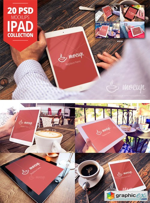 20 PSD iPad Mockup Collection
