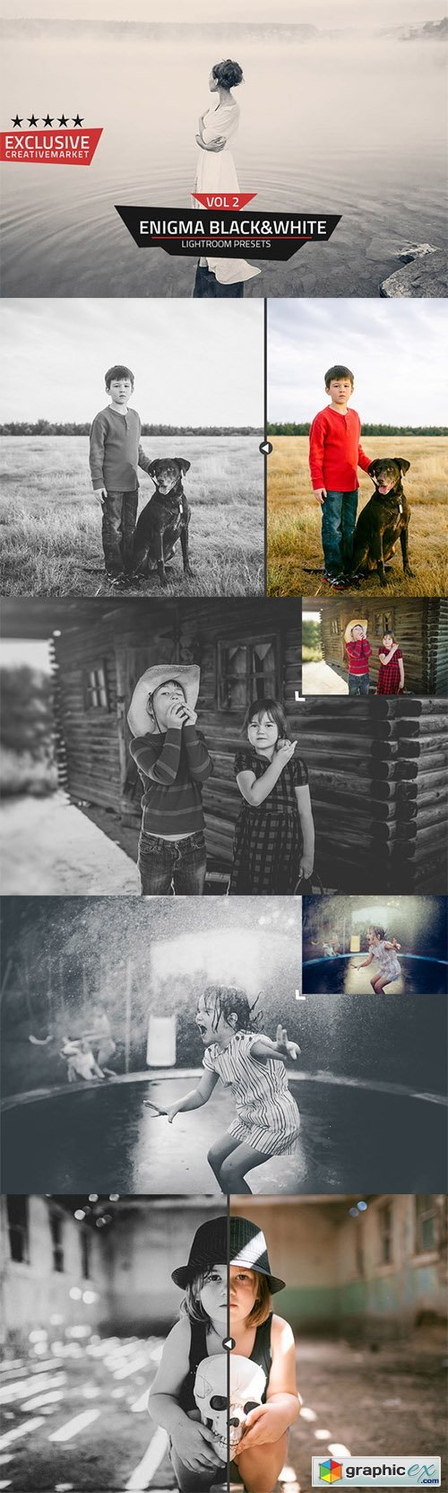 Enigma B&W Lightroom Presets Vol 2