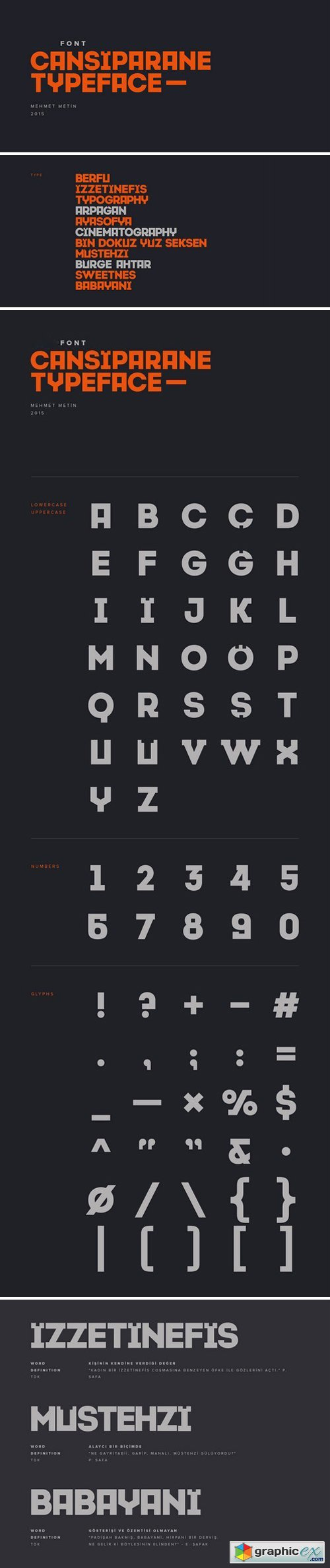 Cansiparane Typeface