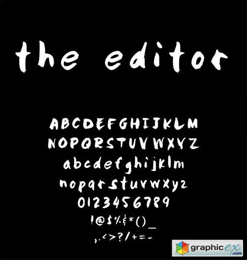 "Hand Written font- ""The Editor"""