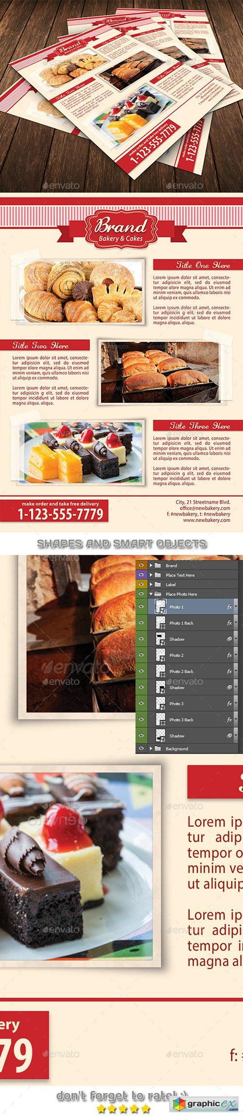 Bakery Food Flyer Template 93