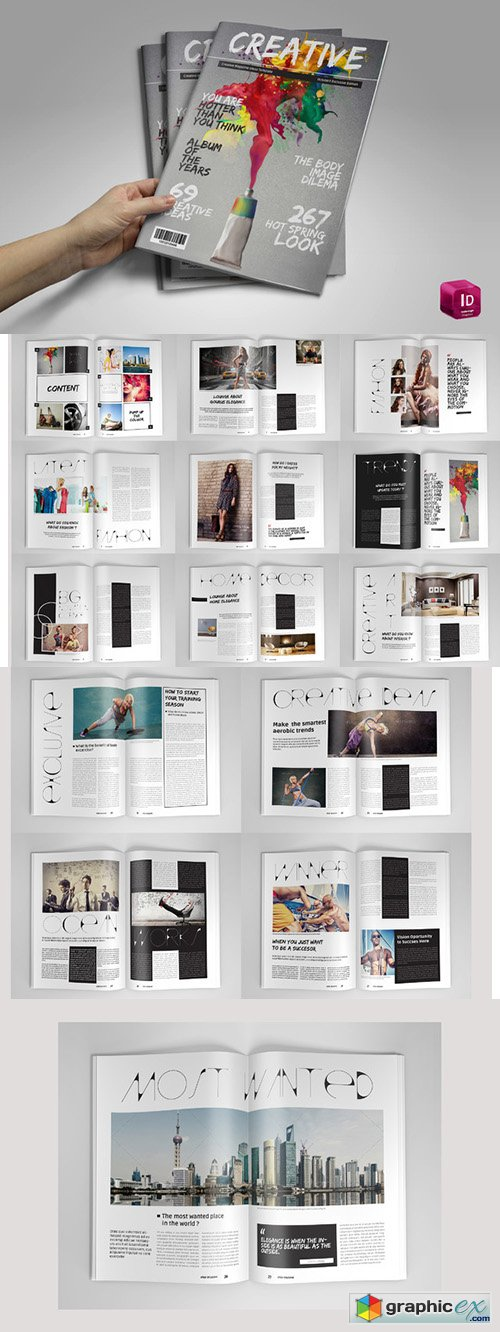Creative Magazine Template 351948
