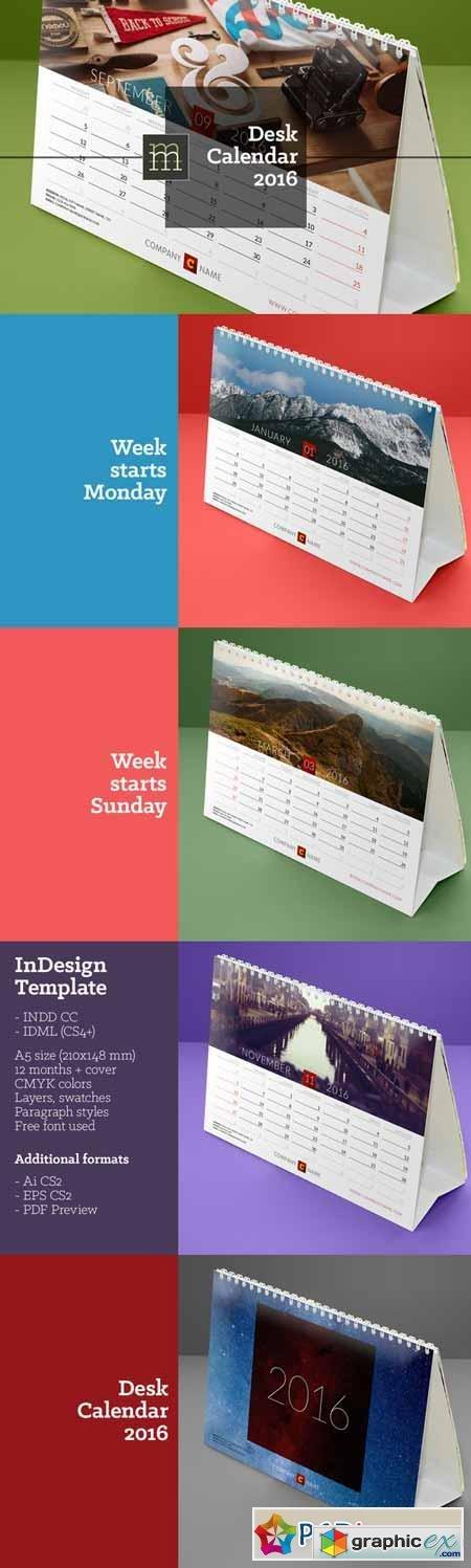 desk calendar 2016 free download vector stock image photoshop icon